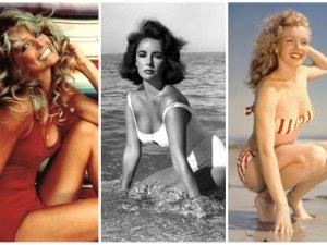 Elizabeth Taylor, Demi Moore, Pamela Anderson... Wybieramy plażowe stylizacje wszech czasów