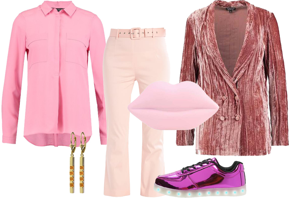Różowa stylizacja