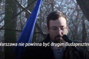 """Węgierski opozycjonista na demonstracji KOD: """"Warszawa nie powinna być drugim Budapesztem"""""""