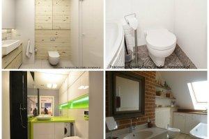 Inspiracje: półki i schowki w małej łazience