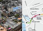 Nowa trasa nad metrem na pocz�tek z luk� w �rodku