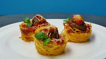 Muffiny ze spagetti