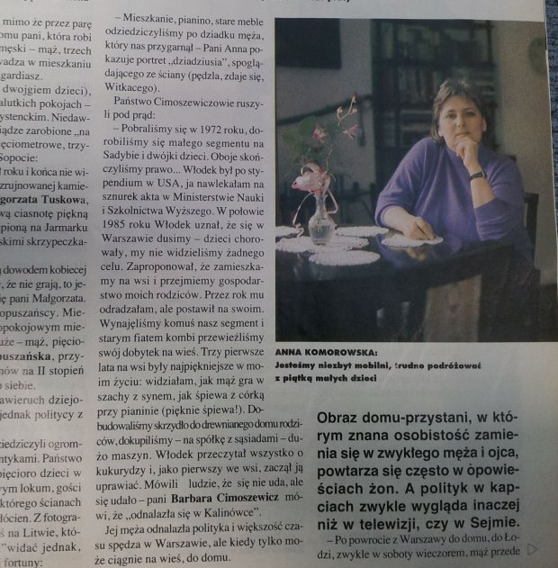Anna Komorowska w