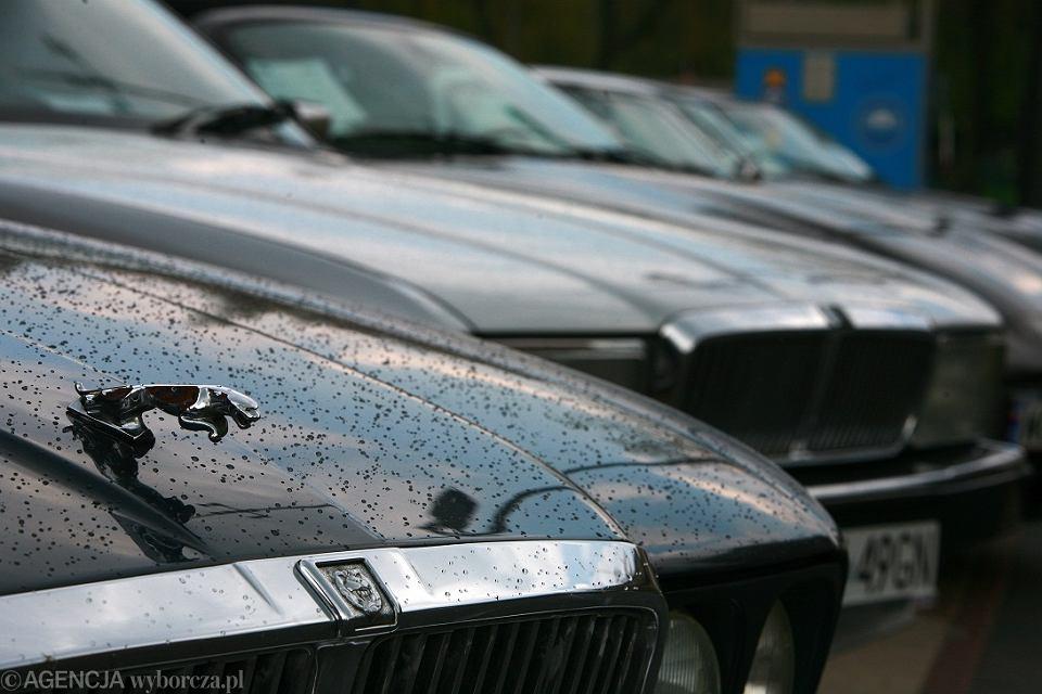 Kierowca jaguara przepiłował blokadę kół, wrzucił ją do bagażnika i odjechał