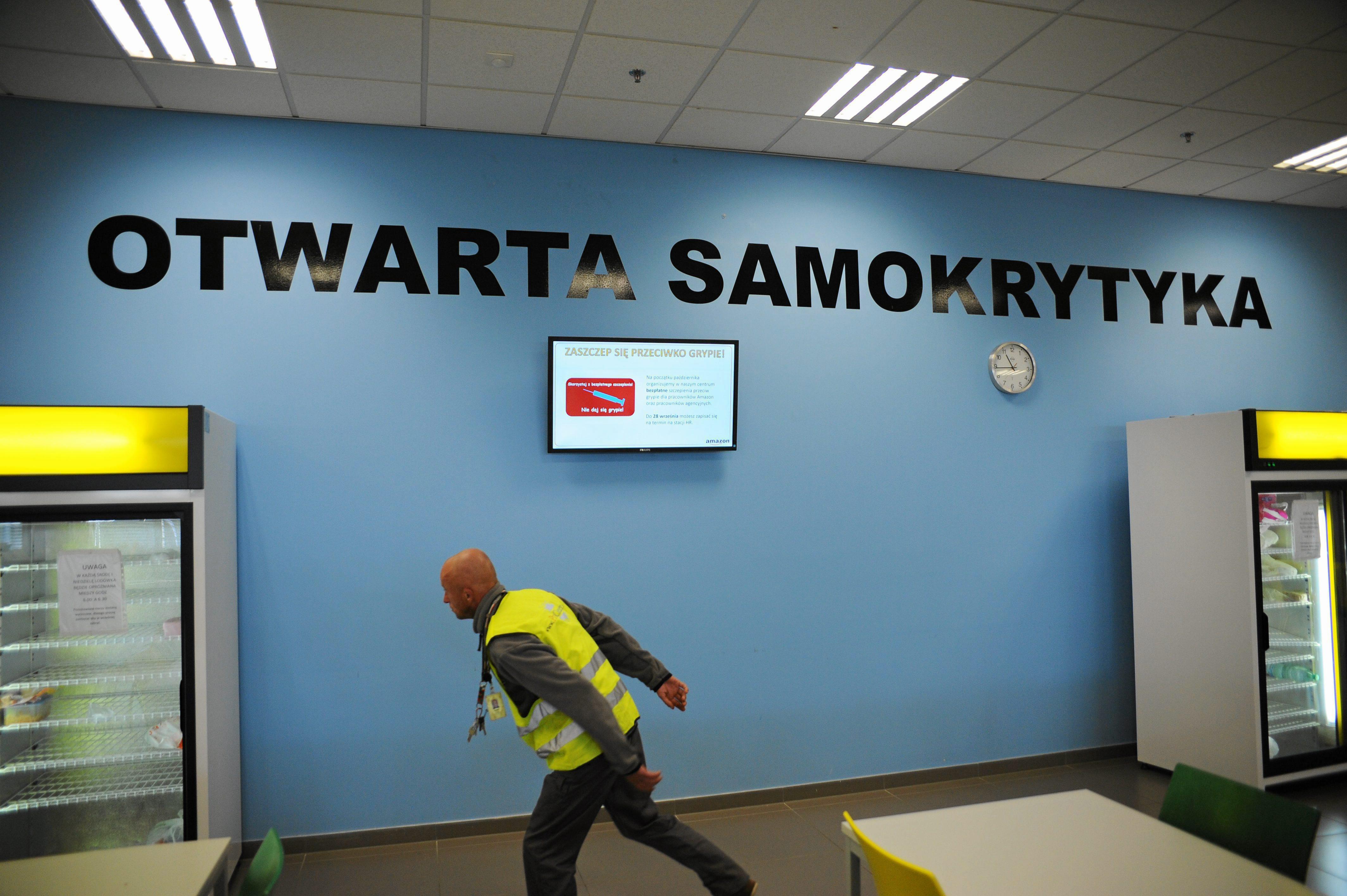 Zdjęcie zrobione podczas dni otwartych w Amazonie we Wrocławiu (fot. Tomasz Pietrzyk / Agencja Gazeta)