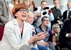 Rafalska przyszła do rodziców protestujących w Sejmie. W pewnym momencie nie wytrzymała