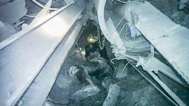 Zdjęcia z akcji ratowniczej w kopalni Zofiówka w Jastrzębiu Zdroju