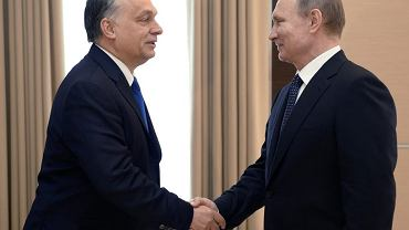 Władimir Putin i Viktor Orban podczas spotkania w podmoskiewskiej rezydencji prezydenta Rosji w lutym 2016 r.