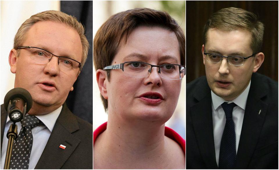 Poseł Szczerski (PiS), Posłanka Lubnauer  (Nowoczesna) oraz poseł Winnicki (Kukiz'15) wypowiadali się jako goście w programie