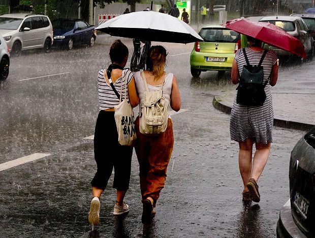 Burze i opady deszczu w Niemczech