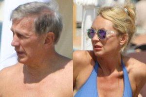 Beata �cibak�wna i Jan Englert na pla�y. On z nagim torsem. Ona w bikini. �atwo zapomnie�, �e ma 47 lat