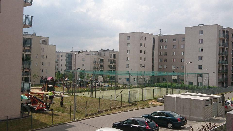 Boisko na os. Witosa w Katowicach, na którym doszło do wypadku