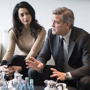 Spotkanie Merkel i Clooney. George by� tam tylko jako ''+1''