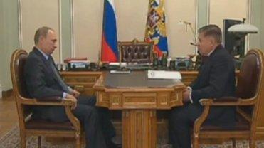 Kadr ze spotkania Władimira Putina