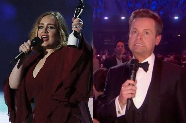 Adele/ prowadzący Brit Awards