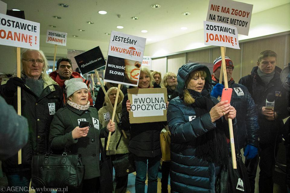 9 stycznia 2018 r. Pikieta solidarności z Joanną Jaśkowiak, notariuszką, żoną prezydenta Poznania