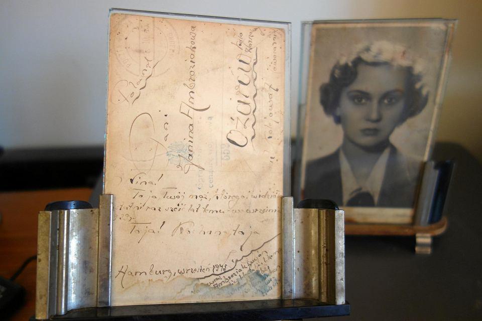 Pocztówka od Lucjana Ambroziaka z 1945 r.