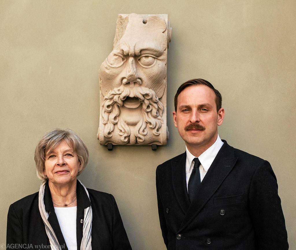 Dyrektor Muzeum Warszawy Ewa Nekanda-Trepka i wicedyrektor Jaroslaw Trybus  / DAWID ŻUCHOWICZ