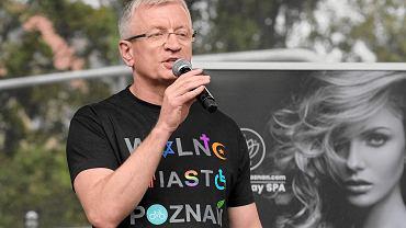 Jacek Jaśkowiak na Paradzie Równości