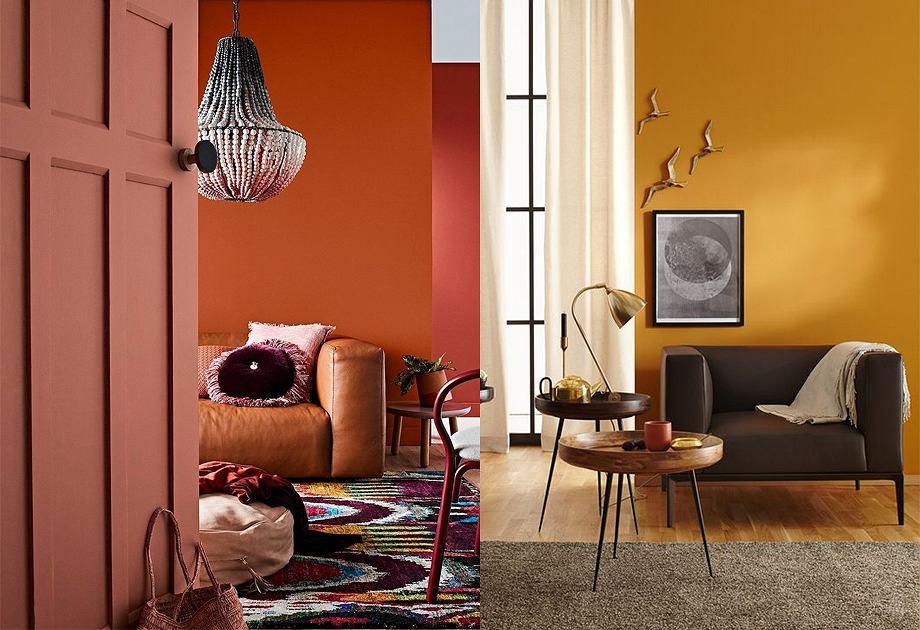 Barwy ciepłe we wnętrzach