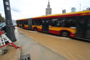 Awaria na budowie metra: zalało Marszałkowską