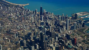 Chicago USA, jezioro Michigan