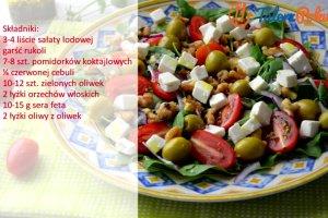 �atwy przepis na pyszn� sa�atk� z rukol�, pomidorkami i orzechami