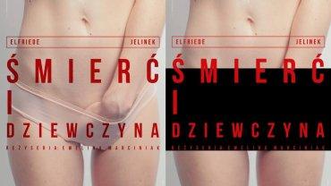 """Plakat spektaklu """"Śmierć i dziewczyna"""" - przed cenzurą i po"""