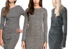 4245013816 Zimowe kolekcje  szare sukienki z długim rękawem
