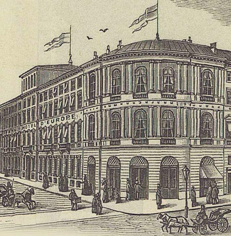 Hotel Europejski powstał w połowie XIX wieku