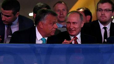 Viktor Orban i Władymir Putin podczas mistrzostw świata w judo w Budapeszcie 28.08.2017