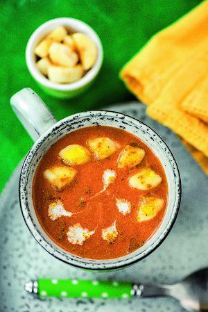 Zupa pomidorowa zbananami icurry
