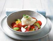 Halibut w ma�le na gazpacho z arbuza