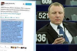 """Kurski ujawnia SMS-a od Kaczy�skiego: PiS zabrania swoim cz�onkom udzia�u w demonstracji """"Solidarno�ci"""""""