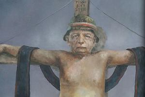"""Afera o Kaczyńskiego w slipkach na krzyżu. """"Żałuję, że te obrazy ujrzały światło dzienne"""" [ZDJĘCIA]"""