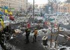 Milicjanci do rana n�kali g�o�n� muzyk� demonstrant�w czuwaj�cych przy barykadach w Kijowie