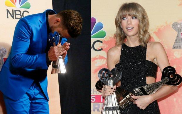 """Najpierw chcia� """"zabra�"""" nagrod� Swift, potem wzruszy� wszystkich dedykacj� dla �ony. Ten wiecz�r nale�a� do Timberlake'a"""