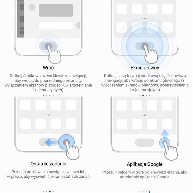 Skróty na czytniku linii papilarnych w Huawei P10