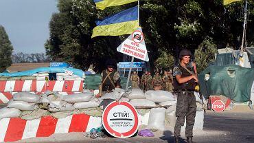Punkt kontrolny ukraińskiej armii w Mariupolu