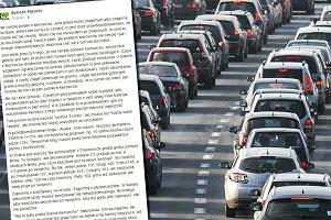 Nie cierpi polskich kierowc�w i pisze: Je�d�� szybko, ale bezpiecznie? K***a, bo ka�dy morderca drogowy my�la� inaczej