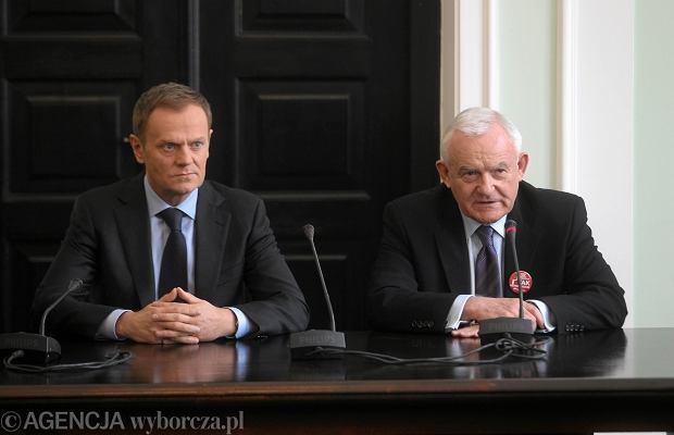 Donald Tusk i Leszek Miller