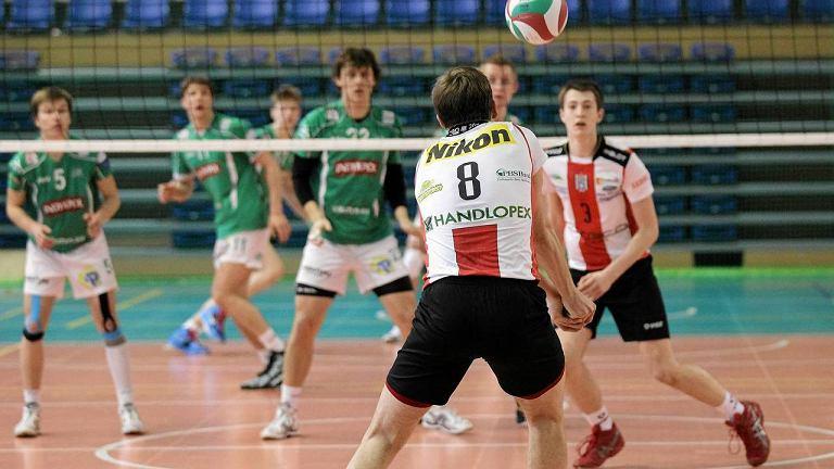 Mecz w Kortowie o I miejsce w turnieju półfinałowym mistrzostw Polski juniorów. AZS UWM - Resovia 3:2