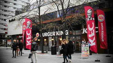 Lokal KFC i Burger King w Warszawie