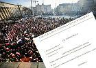 """Marsz KOD w Łodzi i """"faktura dla bankiera"""""""