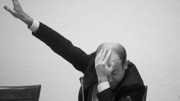Borys Budka podczas obrad
