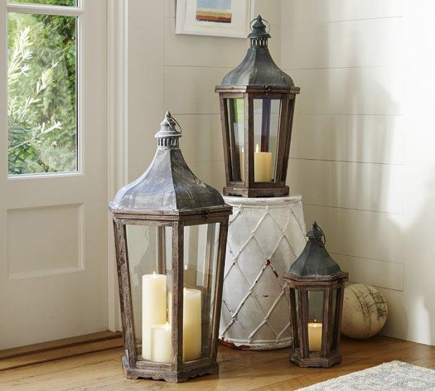 Dekorcyjne latarnie, Pottery Barn