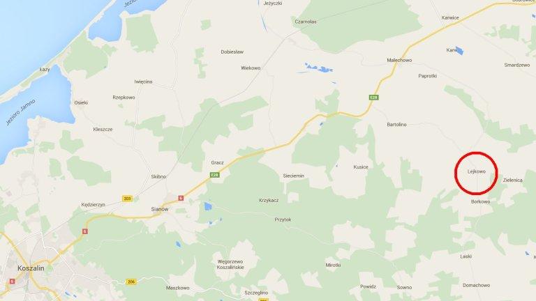 Wypadek autokaru w Lejkowie pod Koszalinem
