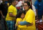 Załamani kibice Brazylii podczas meczu z Niemcami