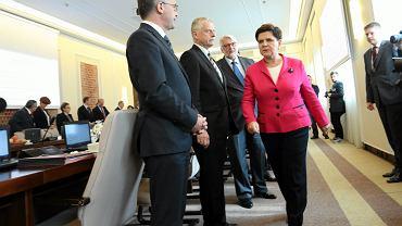 28.09.2016 Posiedzenie Rady Ministrów. Premier Beata Szydło zapowiada rekonstrukcję rządu