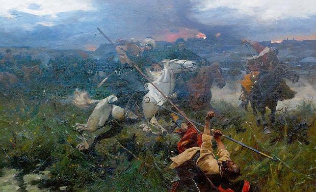 Józef Brandt, Utarczka, 119,5 x 200,5 cm, olej na płótnie, cena 1 400 000 zł